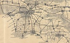 Los Angeles in 1915 / map