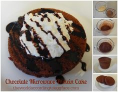 Eggface Healthy Recipes: Chocolate Microwave Protein Cake
