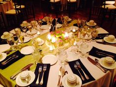 Green and Navy Table Setting