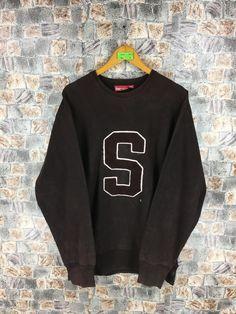 1a3686e4 SUPREME Baseball Sweatshirt XLarge Vintage 90s Supreme Box Logo New York  Nyc Supreme Streetwear Pullover Jumper Brown Size XL