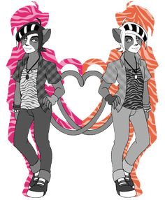 MH Halloween Special - Werecat Sisters Genderbend by NanaRamos.deviantart.com on @DeviantArt
