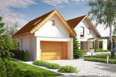 Projekt domu Simon energo plus - koszt budowy 239 tys. Modern Bungalow Exterior, Bungalow House Design, Modern House Design, Architectural Design House Plans, Facade House, Small House Plans, Bathroom Interior, Outdoor Structures, How To Plan