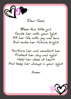 Baby Shower Prayer Cards | Feel free to copy and use in any way you wish.: