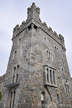 Tower of Glenveagh Castle, Donegal, Ireland