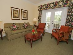 UNIT Kissimmee FL is a 3 Bed / 2 Bath vacation home in Reunion Resort near Walt Disney World Resort Furniture, Home Decor, Curtains, Valance Curtains, Bed, Resort, Property, Couch, Vacation Home