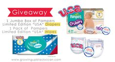 Pampers Spirit of Play #giveaway prize pack #TeamUSA Diapers and Wipes enter at www.growingupblackxican.com ends 6/17