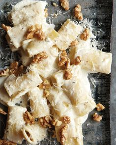 Gorgonzola & Parmesan Pasta with Toasted Walnuts.