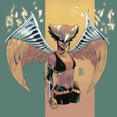 [Artwork] Hawkgirl by Jo Cheol-Hong Dc Comics Women, Dc Comics Superheroes, Dc Comics Characters, Justice League, Comic Character, Character Design, Comic Book Girl, Hawkgirl, Chica Anime Manga