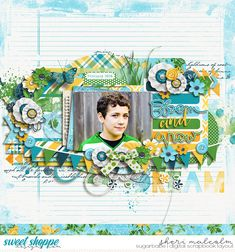 Digital scrapbook page by SeattleSheri using Fresh Krystal Hartley, Meg Mullens and Two Tiny Turtles