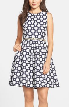 This cute fit & flare dress is perfect to wear for a spring wedding.