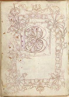 Modello, schizzo, o modello libro OrigineInghilterra Data2 ° o 3 ° trimestre del 15 ° secolo LinguaN / a CopioneGotico