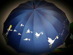 Paraguas pintados a mano y personalizados
