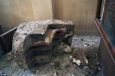 Stone or plaster statue? Damaged during civil unrest at Malawi National Museum, Egypt 2013.