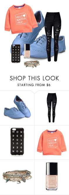 """""""hi"""" by queird ❤ liked on Polyvore featuring J.Crew, H&M, Aéropostale, Chanel, women's clothing, women, female, woman, misses and juniors"""