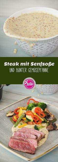 Die Senfsoße passt hervorragend zu Gemüse-, Fisch- und Fleischgerichten und wird zuerst wie eine Bechamelsoße hergestellt. #senfsoße #steak #gemüse #senf #sauce