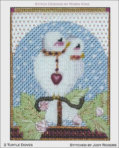 Needlepoint Study Hall two turtle doves