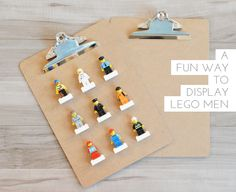 a fun DIY to display Lego characters