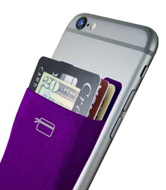 CardNinja - adhesive card holder that sticks to phones and cases. Can be removed without leaving any residue.