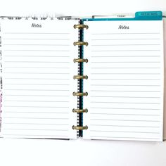 Lined Paper Notes Note Paper Inserts for the Mini by PlanWithVi