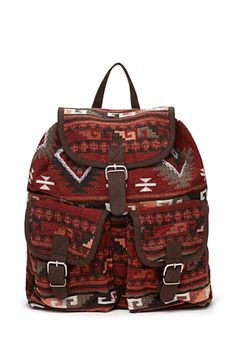 A print backpack perfect for autumn weekend getaways for less than $30.