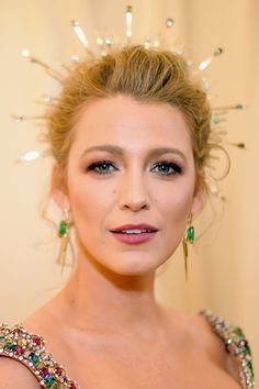 Oh, and ICYMI, Blake Lively showed up channelling an actual goddess with her rosy makeup look (by her pro Kristofer Buckle) that matched her Versace dress. The Hero Product:L'Oreal Color Riche lipstick in Varnished Rosewood, $7.49; amazon.com