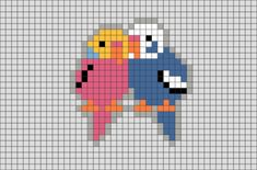 Parakeet Pixel Art – BRIK A parakeet is any one of a large number of small to medium-sized species of parrot, in multiple genera, that generally have long tail feathers. Pixel Art Kawaii, Anime Pixel Art, Tiny Cross Stitch, Cross Stitch Designs, Cross Stitch Patterns, Melty Bead Patterns, Perler Patterns, Diy Perler Beads, Perler Bead Art