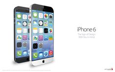 iPhone 6 concept with iOS 7  With the introduction of Apple iOS 7, concepts of Apple's next smartphone are also updated.
