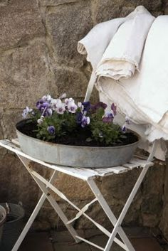 photos of container flowers | Unusual Container Garden Containers - First Come Flowers