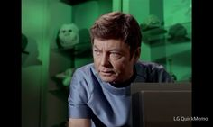 Dr. McCoy has a Furby!!!  (It's just Star Trek predicting the future again!)