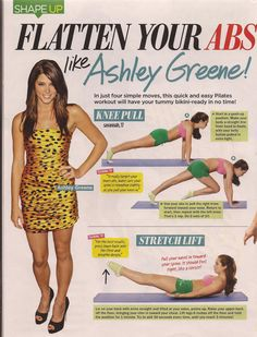 Ashley Greene Abs!