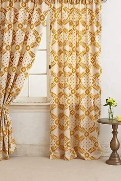 Karelia Brocade Curtain - anthropologie.com