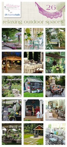 26 Relaxing Outdoor Spaces a curated board by Celebrating Everyday Life on HomeTalk