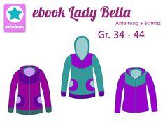 "ebook "" Lady Bella"" Jacke Schnittmuster von mialuna auf DaWanda.com"