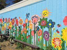 high school mural ideas   Denair Students Create Unique Garden and Beautiful Mural