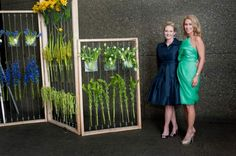 Danielle Rollins and Laurie Bly at the Art in Bloom event presented by ...