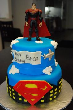 Awesome Picture of Superman Birthday Cake Superman Birthday Cake Superman Birthday Cakecentral Birthday Cake Roses, Adult Birthday Cakes, Birthday Ideas, Birthday Parties, Fondant Cakes, Cupcake Cakes, Fondant Baby, Little Man Cakes, Superman Birthday Party