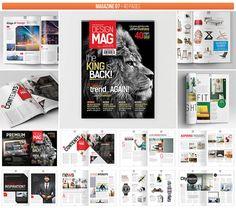 Professional Graphic Design Magazine Templates #magazinetemplate #graphicdesign…