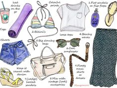 Where I'm from, I often dream of living in a place like Los Angeles where it's (almost) always sunny and you can wear summer clothes all year round. LA style is relaxed, casual and colorful. This week's illustrated how-to shows you how to steal a little bit of the laid-back LA style..