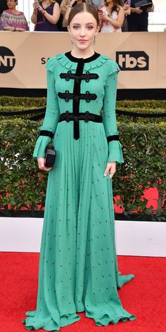 See All the Celebrity Looks from the 2017 SAG Awards Red Carpet - Samantha Isler from InStyle.com