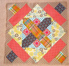 Quilt Block -- crazy about those fabrics; how they work together.