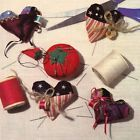 PATTERN for Heart-String Pins, Pincushions, or Ornaments ~ Sewing, from Magazine - http://sewingpins.net/sewing/pins-pincushions/pattern-for-heart-string-pins-pincushions-or-ornaments-sewing-from-magazine/