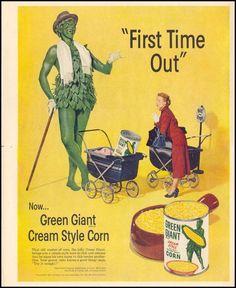 GREEN GIANT CREAM STYLE CORN LIFE 10/13/1952