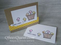 Qbee's Quest: Basket Bunch Thank You Cards