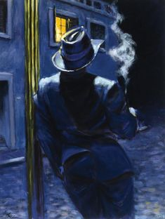 Fabian Perez Under the light - Love the moodiness of this picture!