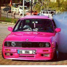 BMW E30 3 series pink
