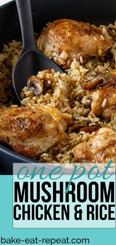 Chicken Rice Recipes, Chicken Flavors, Chicken Rice Bake, Chicken Meals, Chicken Rice Mushroom Casserole, Meals With Rice, Recipes With Rice, Chicken And Rice Dishes, Easy Chicken And Rice