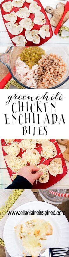 Delicious and Easy Green Chili Chicken Enchilada Bites