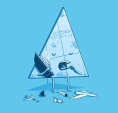 Bermuda triangle Art Print by Naolito | Society6