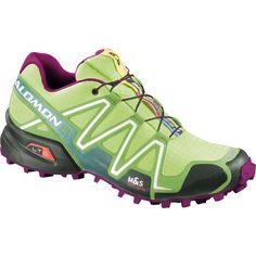 Salomon SpeedCross 3 Trail Running Shoe - Women'sFirefly Green/Green Bean/Mystic Purple