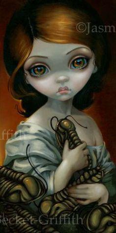 Trilobite Jasmine Becket Griffith Original Painting Big Eye Lowbrow Art Surreal | eBay